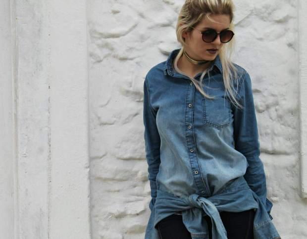camisa jeans - desopilando poa